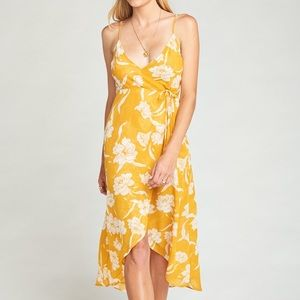 ShowMeYourMuMu Yellow Meghan Wrap Dress Size Lg